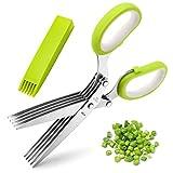 Herb Scissors, X-Chef Multipurpose 5 Blade Kitchen...