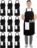 Utopia Kitchen 10 Pack Adjustable Bib Apron with 2...