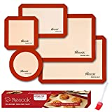 Renook Silicone Baking Mats Set of 6, BPA-Free...