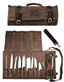 Chef Knife Roll Bag Holds 10 Knives PLUS Slots for...