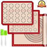 Silicone Baking Mats with Measurement - Set of 3...