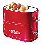 Nostalgia HDT600RETRORED Pop-Up 2 Hot Dog and Bun...