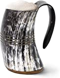 Norse Tradesman Genuine Viking Drinking Horn Mug -...