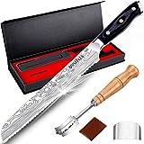 MOSFiATA 8' Bread Knife, Sharp Serrated Knife with...