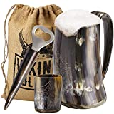 Viking Culture Ox Horn Mug, Shot Glass, and Bottle...