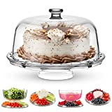 Godinger Cake Stand and Serving Plate Platter with...