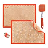 GUANCI Silicone Baking Mat Set with 10' Silicone...