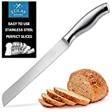 Zulay Serrated Bread Knife 8 inch - Ultra-Sharp &...