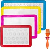 4pieces Silicone Baking Mats, Non-Slip Washable...