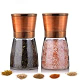 Salt and Pepper Grinder - Premium Stainless Steel...