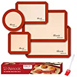 RENOOK Silicone Baking Mats Set of 5-2 Half Sheets...