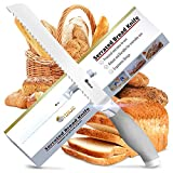 Orblue Serrated Bread Knife Ultra-Sharp Stainless...
