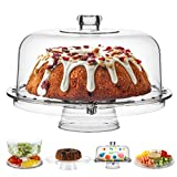 Homeries Cake Stand with Dome Cover (6 in 1)...