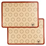 Silicone Macaron Baking Mat - Set of 2 Half Sheet...